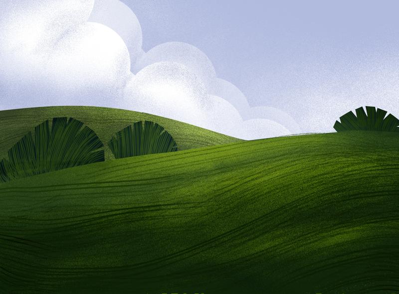 landscape art digital web animation website digital art design ux ui illustration graphic design