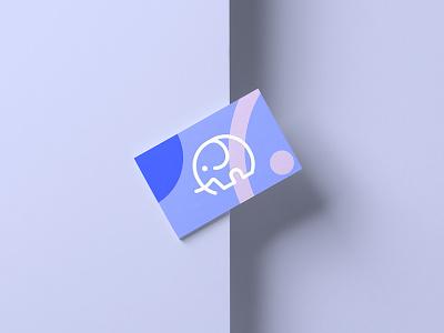 🐘Business Card elephant logo logo design logo elephant colorful layout business card design businesscard