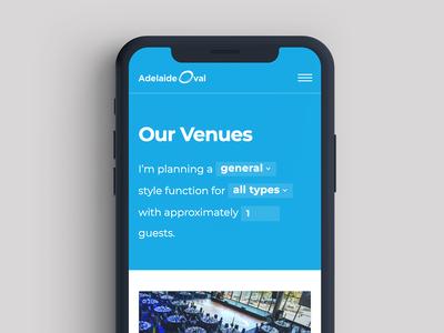 Venue Form Mobile