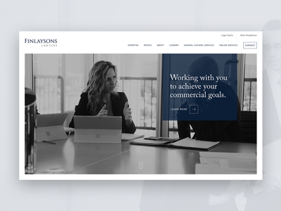 Law-firm homepage design