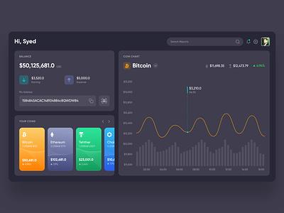 Crypto Wallet web concept design