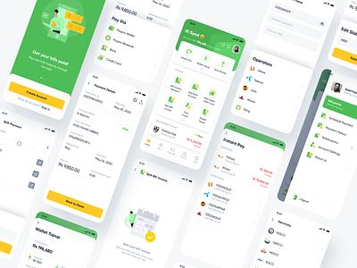 Fintech App andriod app ios illustration design