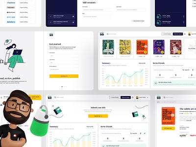Consumer Dashboard web illustration design