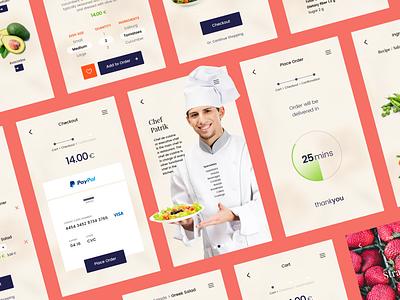 Food Delivery ios andriod app concept design