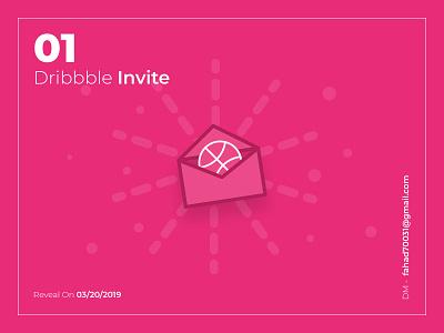 1x Dribbble Invite invite illustration design