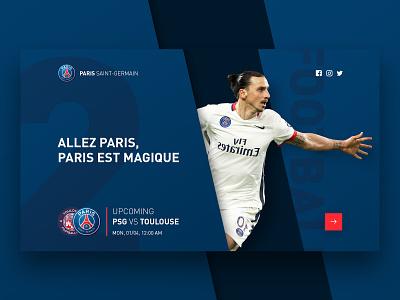 PSG vs Toulouse web concept illustration design