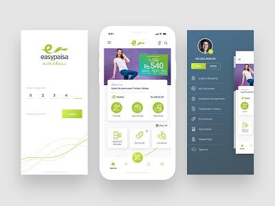 Easypaisa Concept andriod ios app concept illustration design