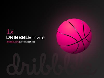 1x Dribbble Invite invite ui web concept illustration design