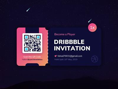 1x Dribbble Invite designer dribbble invite