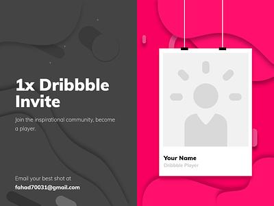 1x Dribbble Invite design-exploration invite