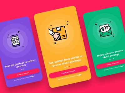 On-Boarding Screens andriod ios app concept design
