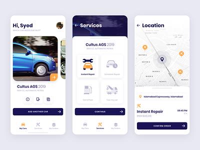 Car Repair Concept ui andriod ios app concept illustration design