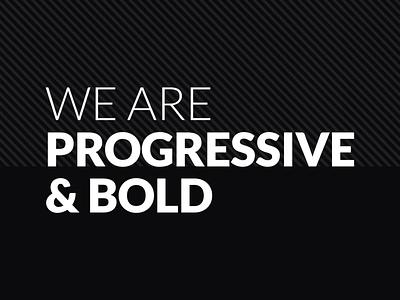 Progressive & Bold design typogra illustration media agency digitalagency 2019 artwork branding dribbble progressiveandbold pandbstudio pandb firstpost