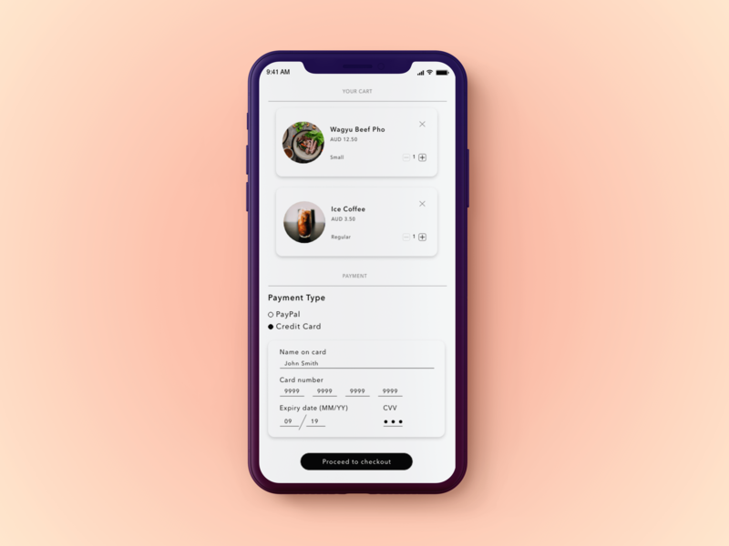 DailyUI #002 Checkout app typography iphonex design ui dailyui
