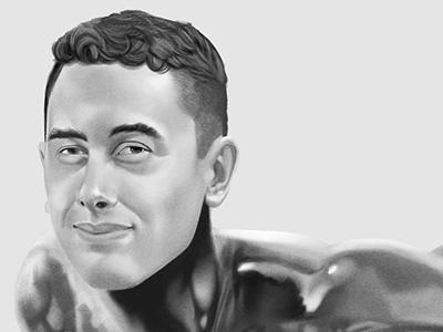 Preston bio page digital illustration photoshop silver surfer marvel fan art character wacom
