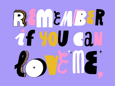 love yourself 2d frame by frame hand drawn typography typogaphy illustration gif animation