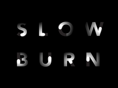 Slow Burn Films logo logo lettering film