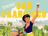 San Francisco Vintage Postcard