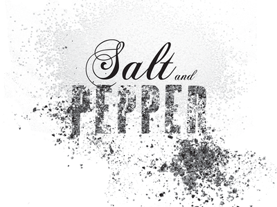 Salt & Pepper lettering