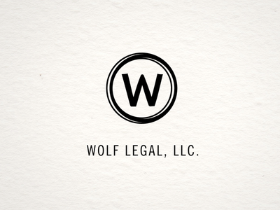 Wolf Legal logo V1 logo illustration typerwriter