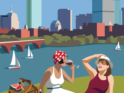 Boston Vintage Postcard