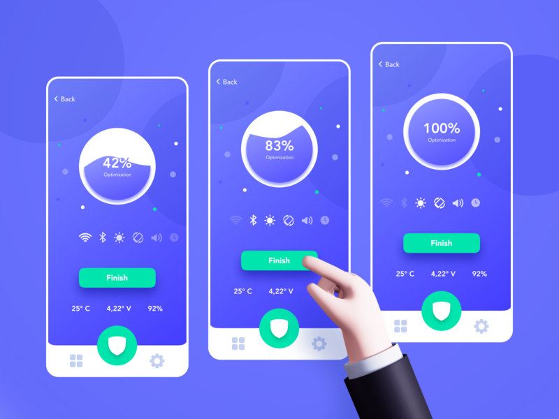 Sentry Smart Security | Mobile App gradient fintech web application illustration mobile app app ui ux design