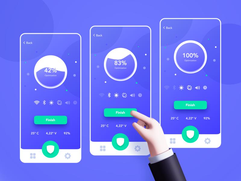 Sentry Smart Security | Mobile App gradient fintech web application illustration mobile app app ui ux design