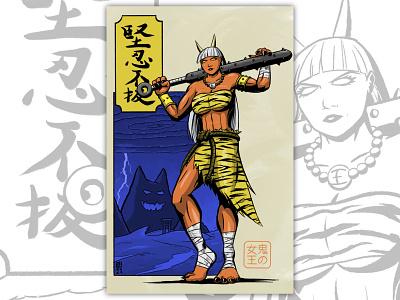 鬼の女王 drawing japanese culture character design illustration 2d comic art