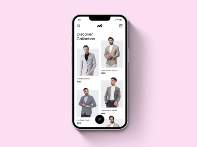 Online Fashion Store 3d shopping buy product future shopping animated app animation modern design faded app minimalist app online store motion design motion graphics branding illustration graphic design app app design ui design fashion