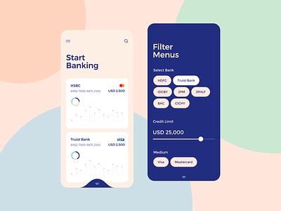 Expense Manager concept ux ui design app design app fintech bank finance management retro-style money app management app mobile banking finance app online bank bank card credit card debit card banking