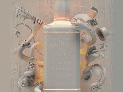 Jack Daniel's Poster 3d