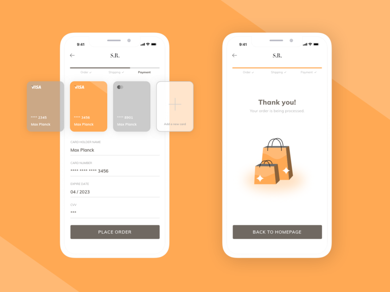 Daily UI 002 - Credit Card Checkout form vector ios sketch interface shopping checkout bank card ux ui mobile app daily ui