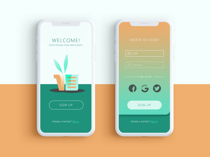 Daily UI 001 - Sign Up Page sign up onboarding ux ui app mobile 001 dailyui