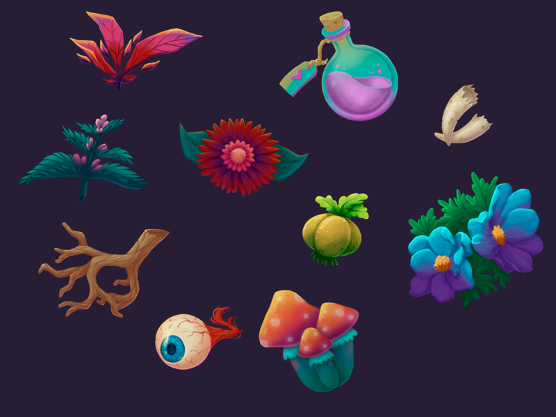alchemy props 2d art game art design