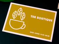 visiting card for tea boutique