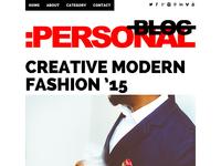 Free Personal Blog Theme