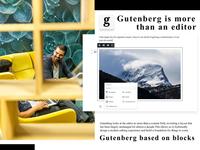 Gutenberg WordPress Page Editor