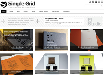 Simple grid theme
