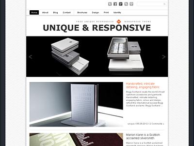 Unique wordpress theme