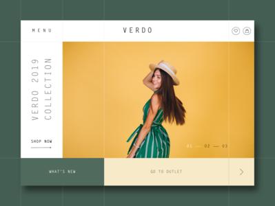 VERDO Home Page Design Concept
