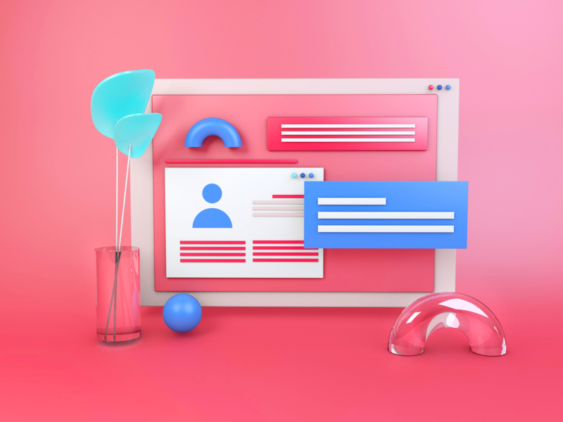 3d Clay Landing Page