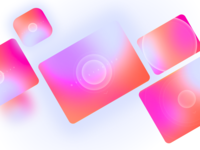 Holographic Getting Started Screen branding welcome screen uiux ui swipe smooth simplicity minimalism minimal holographic getting started figma calm colors