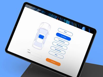 Car Service Selection Form Dashboard car service booking booking radio buttons selector car service web design car vector automotive interaction design interaction interface animation uiux minimal app sketch ux figma ui