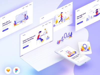 Freebie Pulse Illustration Kit on Product Hunt