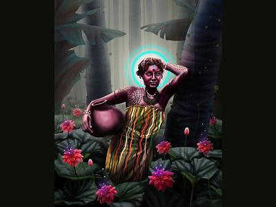 flowers dreem nature green love creative instagram design illustratio muhamed sajid illustration hiwow