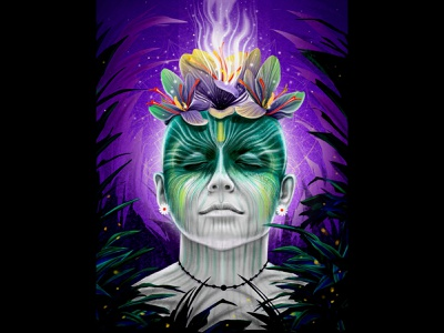 We belong to earth dreem nature green love creative instagram design illustratio illustration hiwow