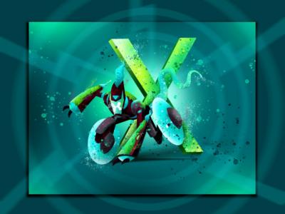 X for xlr8 ben 10