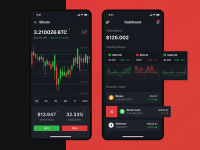 Cryptocurrency Mobile App design uiux mobile finance app crypto wallet cryptocurrency ux ui trading cards stock exchange mobile app investment invest finance