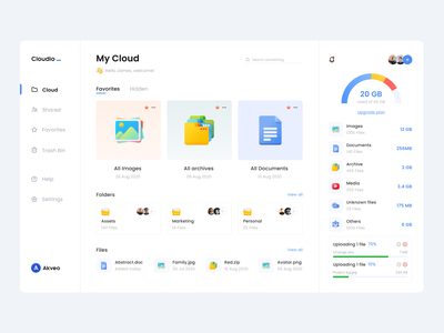 File Manager Dashboard web design uiux ux ui storage product design interface files file manager dropbox drive dashboad cloud app cloud app