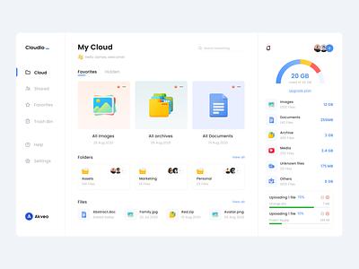 File Manager Dashboard web design uiux ux ui storage product design interface files file manager dropbox drive dashboad cloud app cloud app